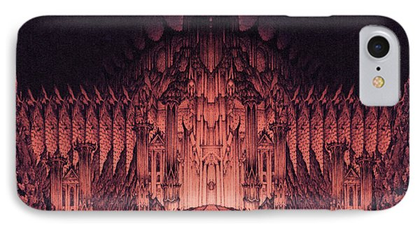 The Walls Of Barad Dur IPhone Case by Curtiss Shaffer