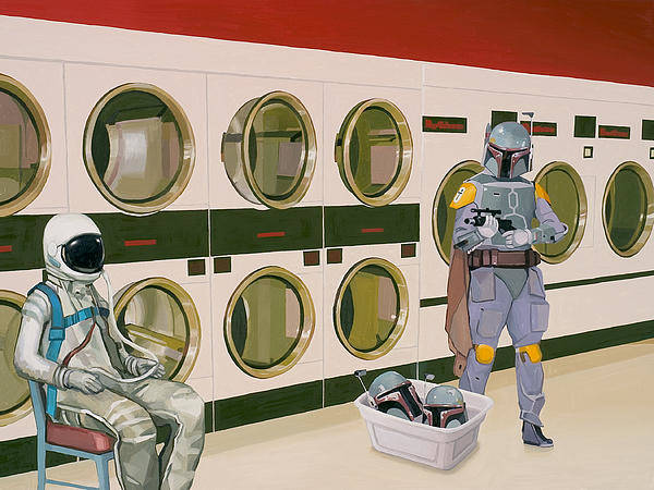 Scott Listfield - At the Laundromat with Boba Fett