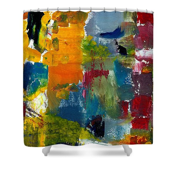 Abstract Color Relationships Ll Shower Curtain by Michelle Calkins