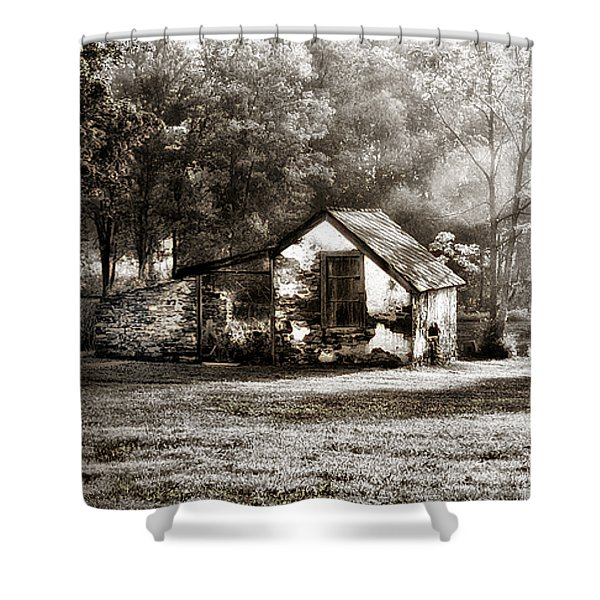 Narcissa Road Springhouse Shower Curtain by Bill Cannon