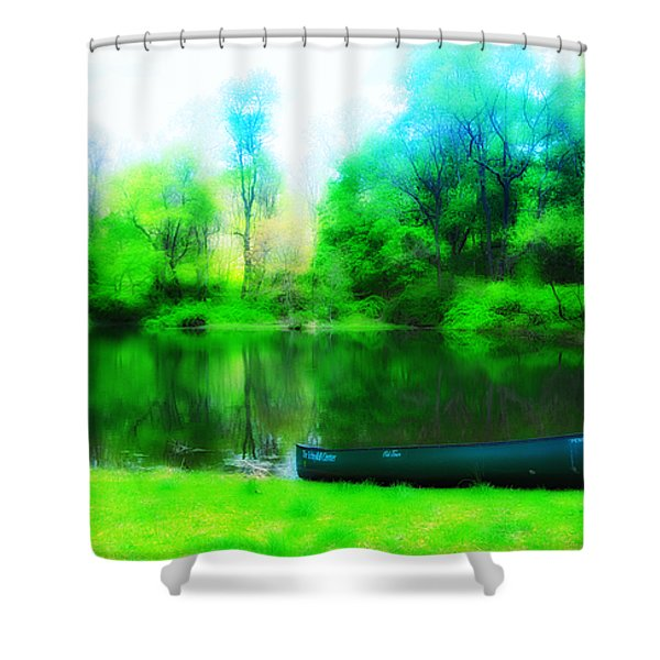 The Old Fishin Hole Shower Curtain by Bill Cannon