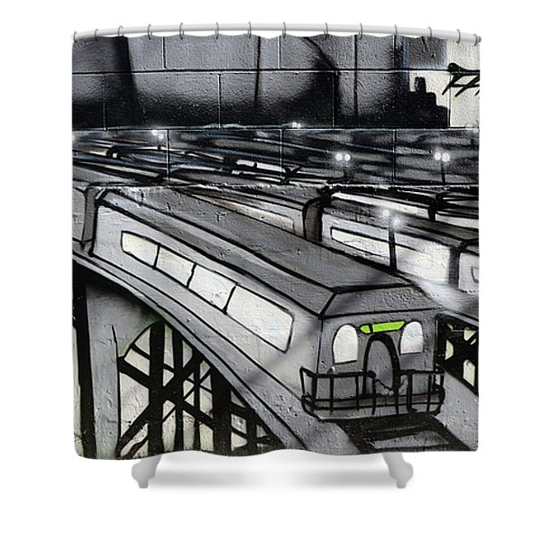 Transporters Shower Curtain by Bob Christopher