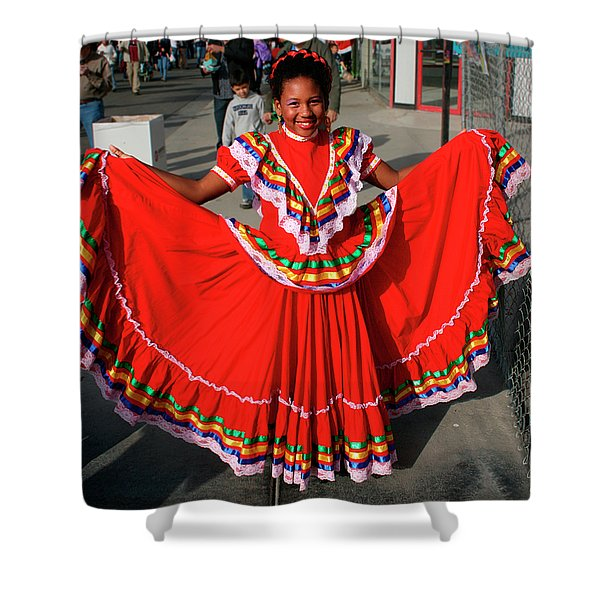 Young Dancer Shower Curtain by William Dey