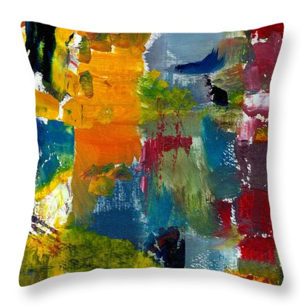 Abstract Color Relationships Ll Throw Pillow by Michelle Calkins