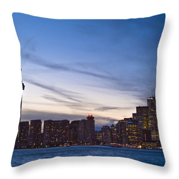 View From Islands Of Skyline Toronto Throw Pillow by Richard Nowitz