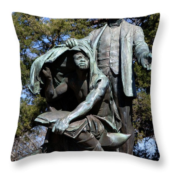 Booker T Washington Throw Pillow by Granger