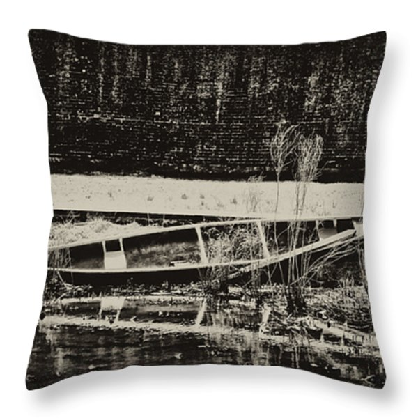 Canoe Throw Pillow by Bill Cannon