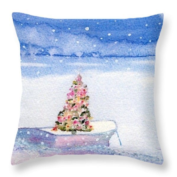 Cape Cod Christmas Tree Throw Pillow by Joseph Gallant