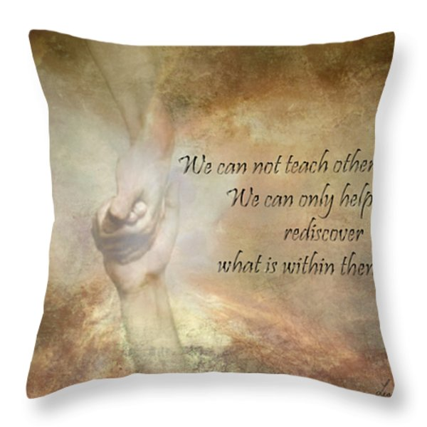 Discover Your Own Inner Gifts Throw Pillow by Leanne M Williams
