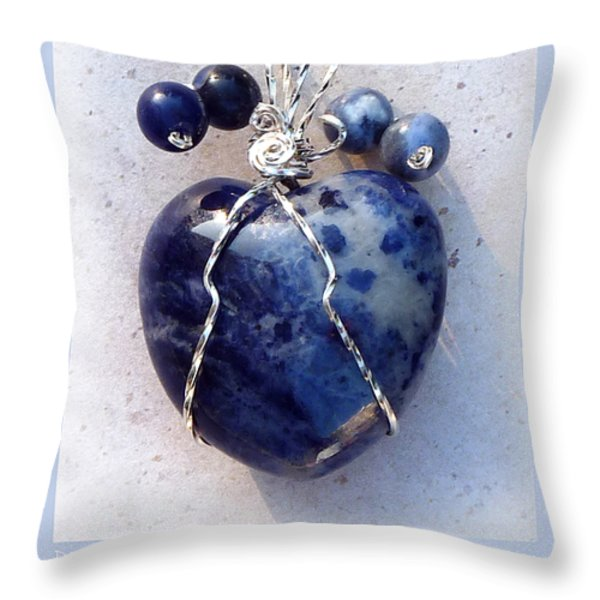Don't Be Blue Throw Pillow by Rhonda Chase