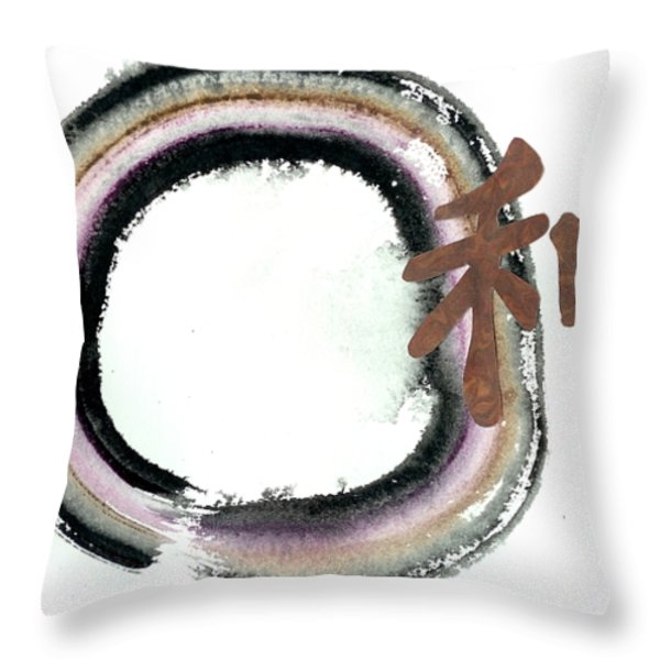 Earth Harmony II Throw Pillow by Ellen Miffitt