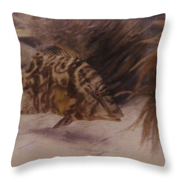 Example Of First Underwater Photography Throw Pillow by W. H. Longley And Charles Martin