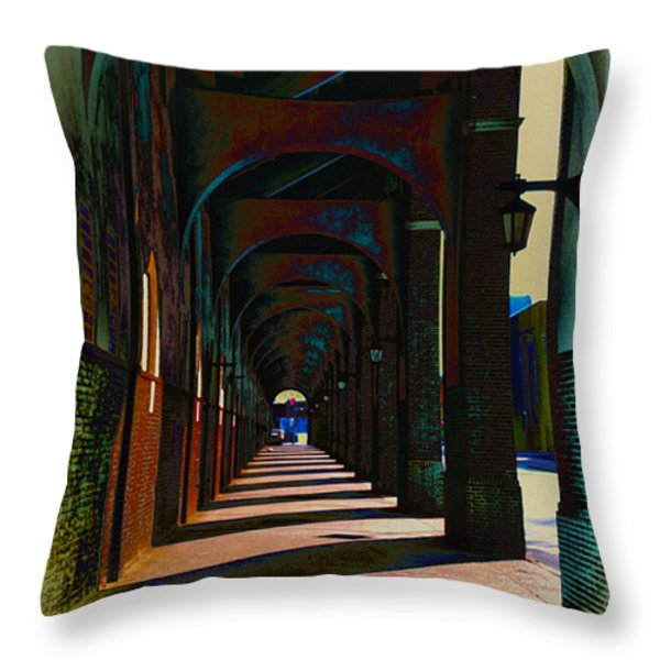 Franklin Field Concourse Arch Throw Pillow by Bill Cannon