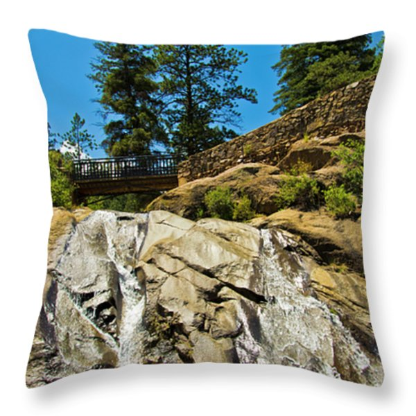 Helen Hunt Falls Throw Pillow by Angelina Vick