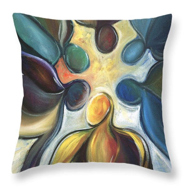 In The Huddle Throw Pillow by Kristye Addison Dudley