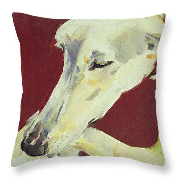 Jack Swan I Throw Pillow by Sally Muir