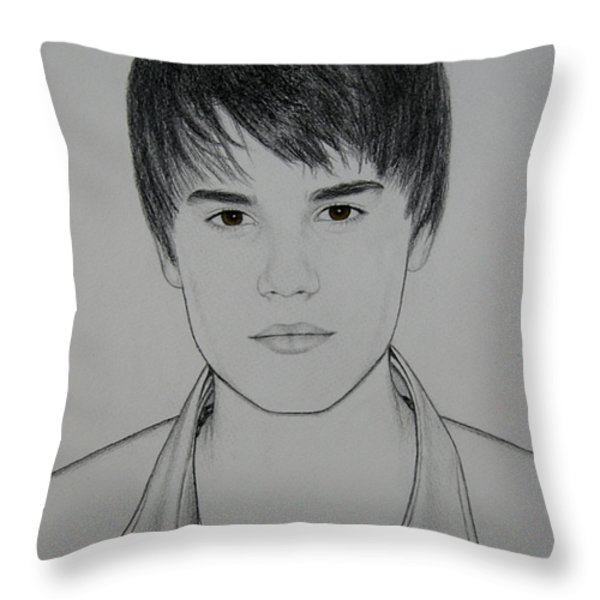 Justin Throw Pillow by Lynet McDonald
