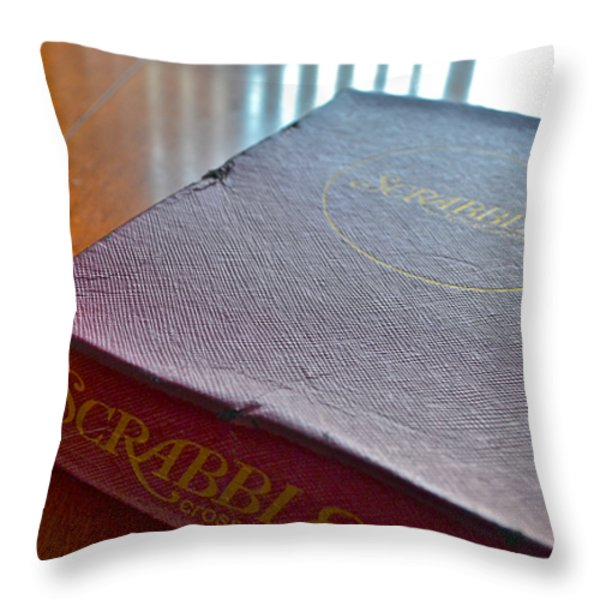 Old Scrabble Game Throw Pillow by Bill Owen