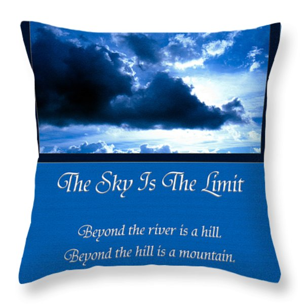 The Sky Is The Limit Throw Pillow by Andee Design
