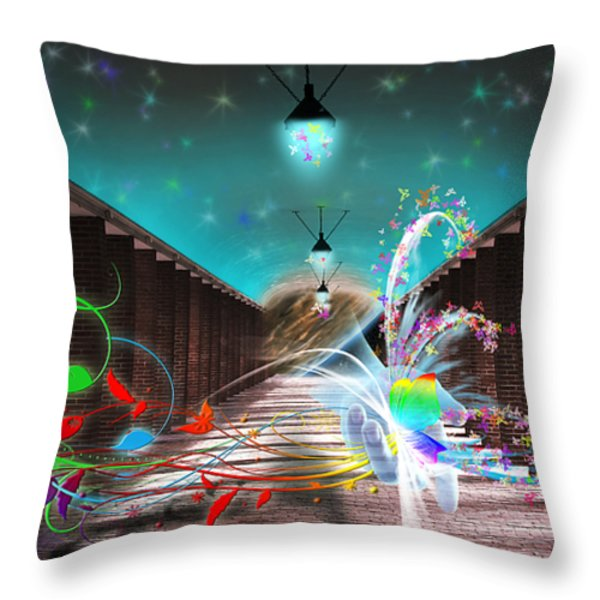 Visitors Throw Pillow by Svetlana Sewell