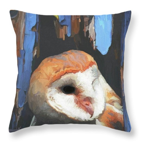 Who Are You Throw Pillow by Patti Siehien
