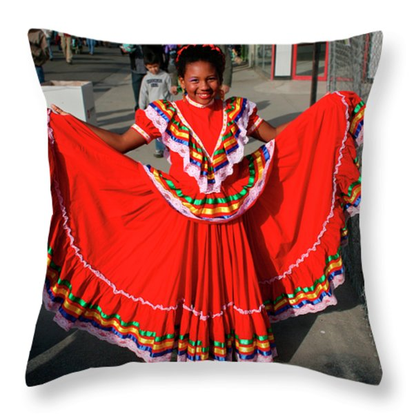 Young Dancer Throw Pillow by William Dey