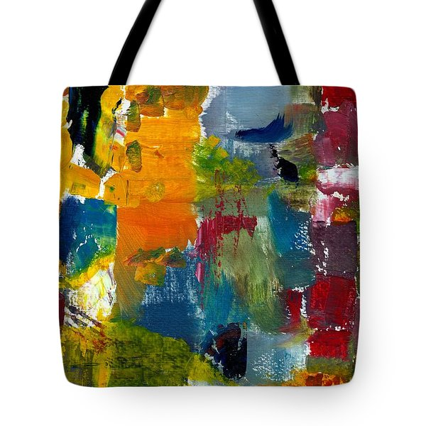 Abstract Color Relationships Ll Tote Bag by Michelle Calkins