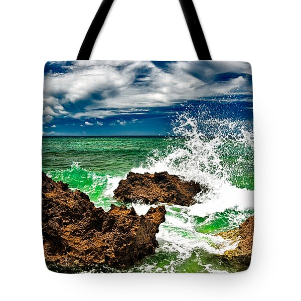 Blue Meets Green Tote Bag by Christopher Holmes