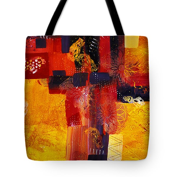 Byzantine Times An Abstract Painting Of Geometric Shapes Tote Bag by Phil Albone