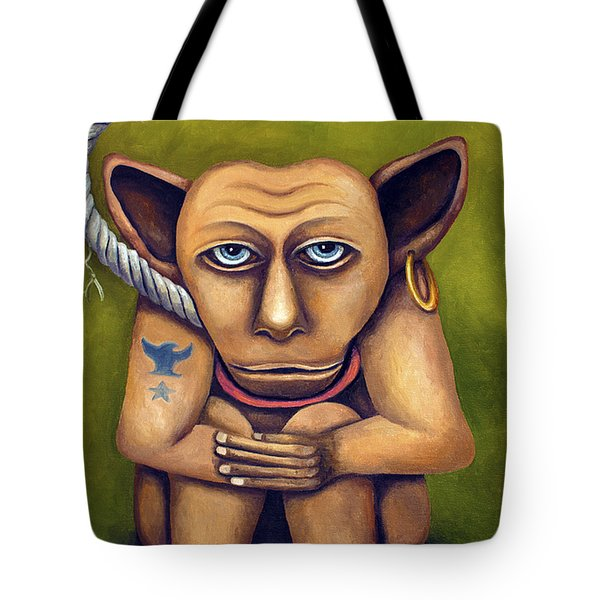 Freak On A Leash Tote Bag by Leah Saulnier The Painting Maniac