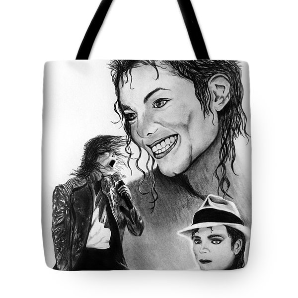 Michael Jackson Faces To Remember Tote Bag by Peter Piatt