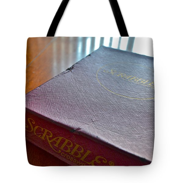 Old Scrabble Game Tote Bag by Bill Owen