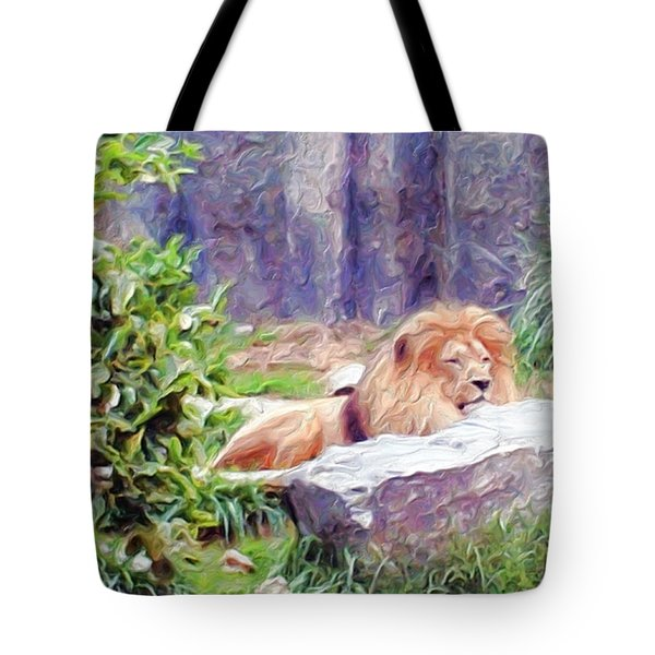 The King At Rest Tote Bag by Methune Hively
