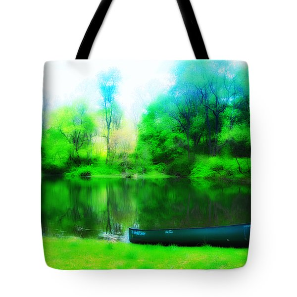 The Old Fishin Hole Tote Bag by Bill Cannon
