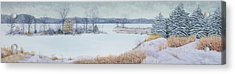 Winter Lake And Cedars Acrylic Print by Garry McMichael