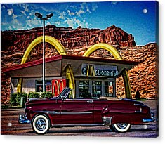 1951 Chevrolet Convertible Acrylic Print by Tim McCullough