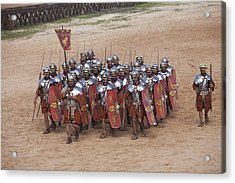 Actors Re-enact A Roman Legionaries Acrylic Print by Taylor S. Kennedy
