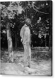 Anonymous African American Lynching Acrylic Print by Everett