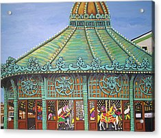 Asbury Park Carousel House II Acrylic Print by Norma Tolliver