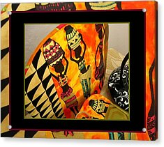 Beautiful Black Women And Water Jars Tea Cozy Acrylic Print by Gretchen Wrede