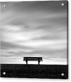 Bench, Long Exposure Acrylic Print by Kees Smans