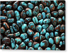 Bisbee Turquoise Acrylic Print by Sergio Salvador