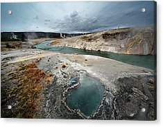 Blue Hole Acrylic Print by KH Graphic