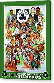 Boston Celtics Eastern Conference Champions Acrylic Print by Dave Olsen