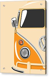 Camper Orange Acrylic Print by Michael Tompsett