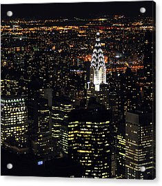 Chrysler Building At New York City Acrylic Print by Philippe Brunel