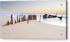 Dicky Beach Acrylic Print by Visual Clarity Photography