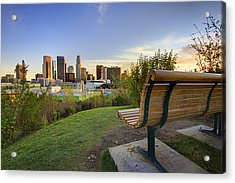 Empty Bench Acrylic Print by Kenny Hung Photography