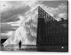 Glass Pyramid. Louvre. Paris.  Acrylic Print by Bernard Jaubert