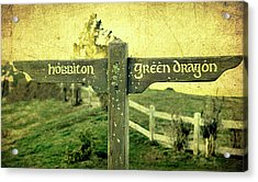 Hobbiton Signage Acrylic Print by Linde Townsend